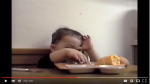 little boy sneaks food